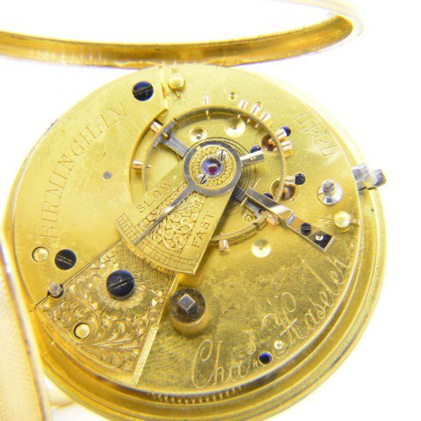 Gentlemans gold pocket watch Haseler