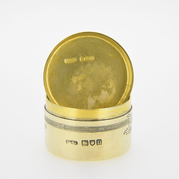 Edwardian silver-gilt box
