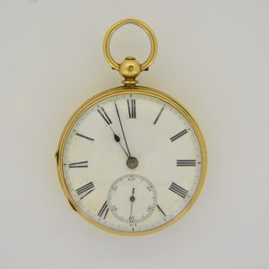 Gentlemans gold pocket watch Haseler
