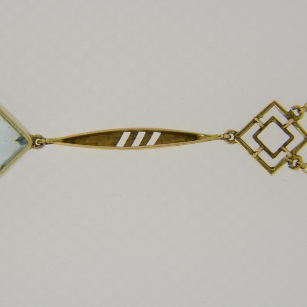 15ct aquamarine lavalier pendant