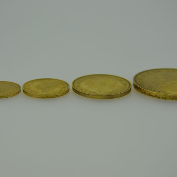 1937 four gold coins edge