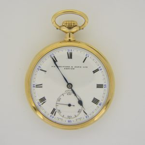 9ct gold Zenith pocket watch