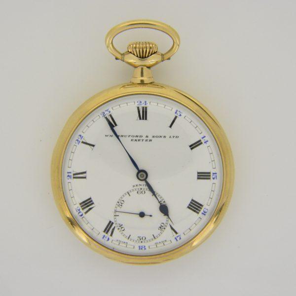 9ct gold Zenith pocket watch