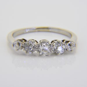 Diamond five-stone ring