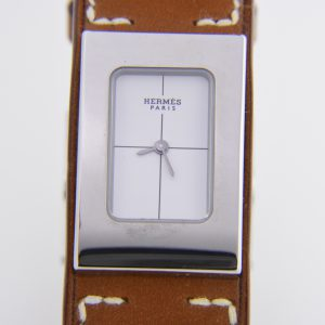 Hermes Cherche midi stainless steel wristwatch