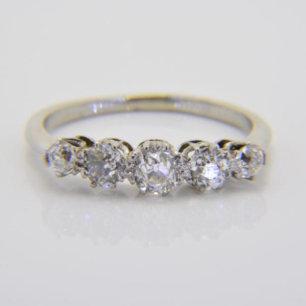 Diamond five-stone ring