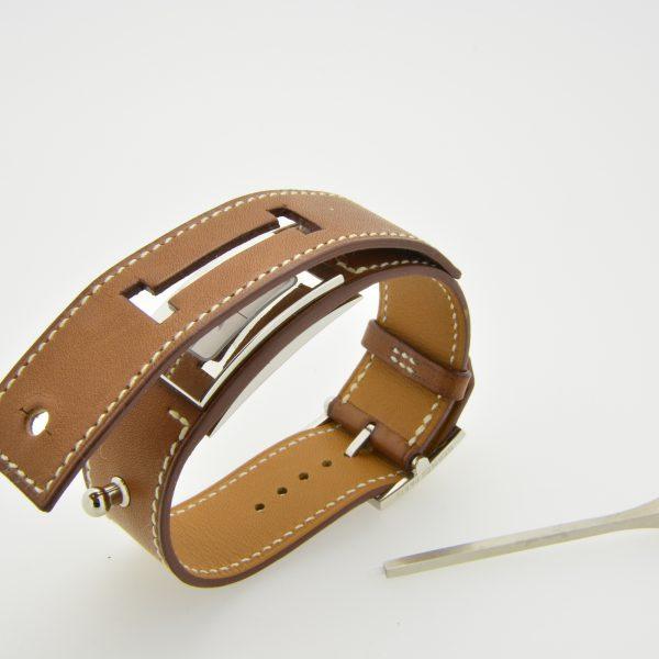 Hermes Cherche midi stainless steel wristwatch