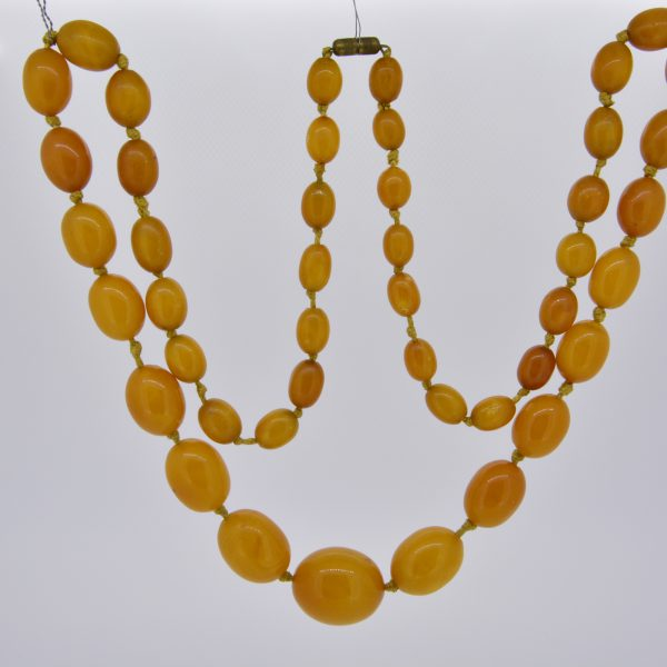 Natural Baltic amber bead necklace 71.9gms
