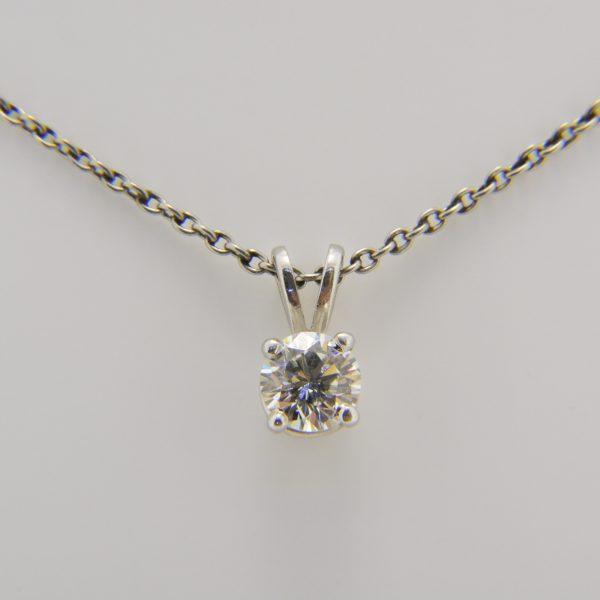 0.5ct diamond solitaire pendant