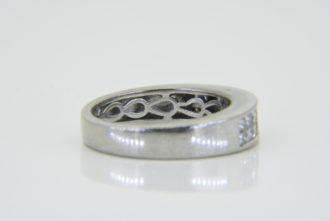 18ct white gold diamond half et ring