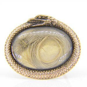 Early 19th C snake memento brooch