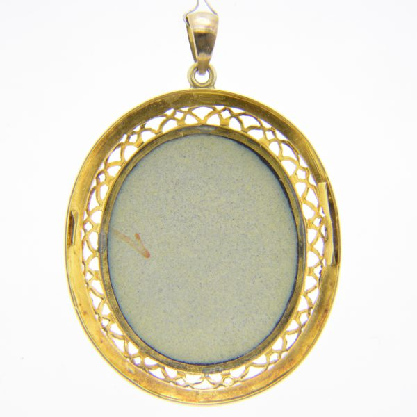 19th century Geneva enamel pendant
