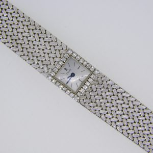 Piaget white gold diamond wristwatch
