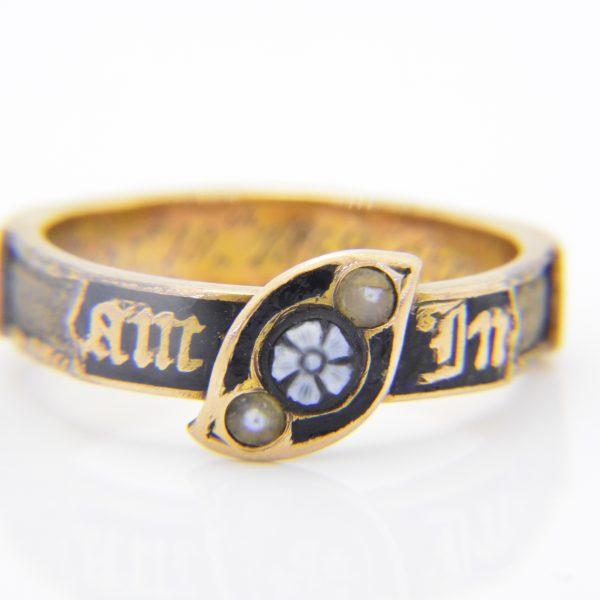 Victorian memorial ring