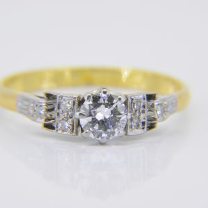 A vintage half carat solitaire diamond ring