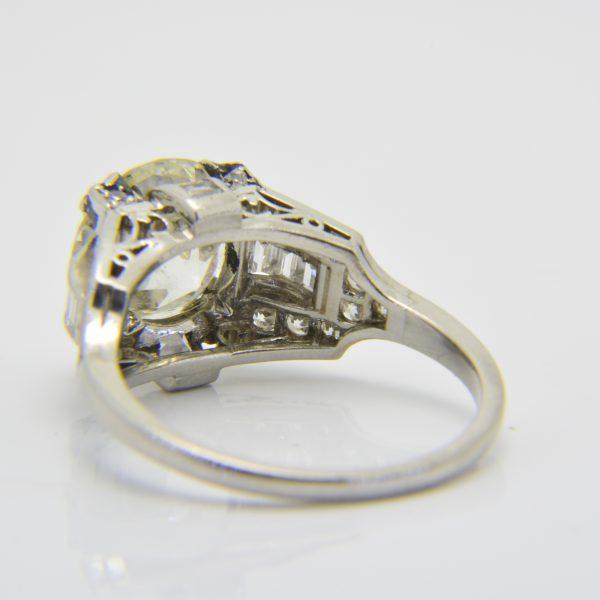 3 carat diamond art deco ring