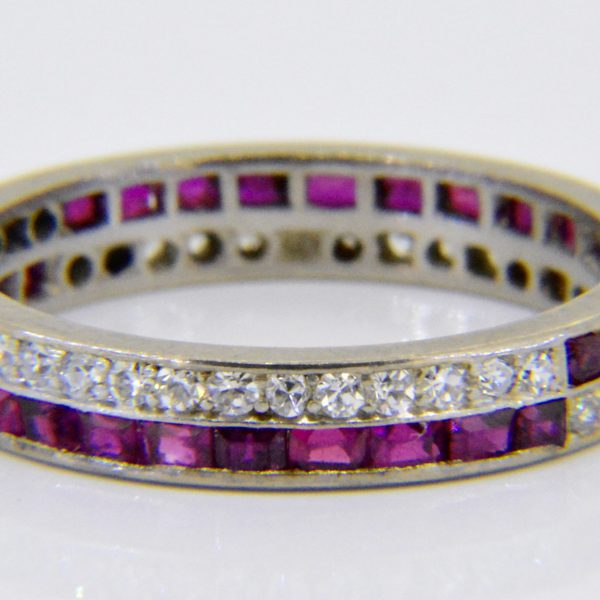 1930s ruby & diamond eternity ring
