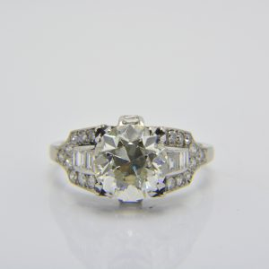 3 carat diamond art deco ring