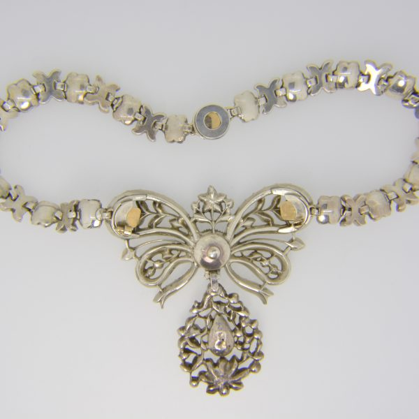 19th/18th crystal & paste necklace reverse