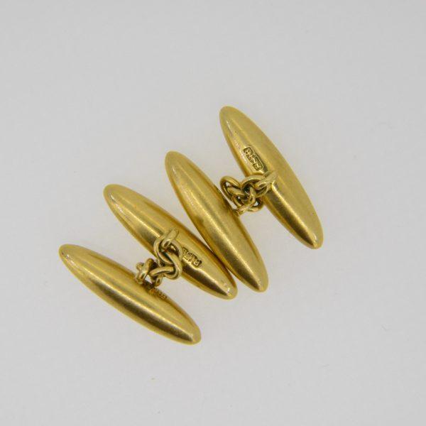 18ct torpedo cuff-links