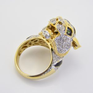 Diamond tiger ring