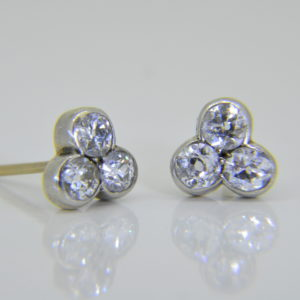diamond trefoil cluster ear-studs