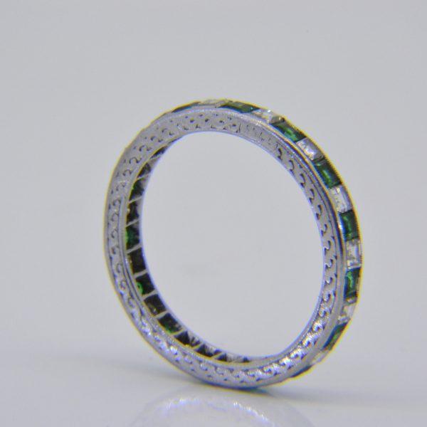 1920s emerald & diamond eternity ring
