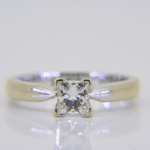 princess-cut diamond solitaire
