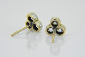 diamond trefoil cluster ear-studs
