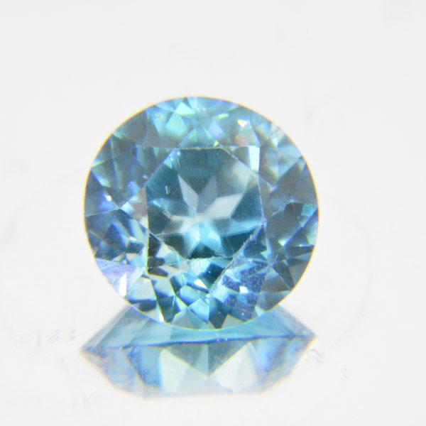 Circular blue zircon