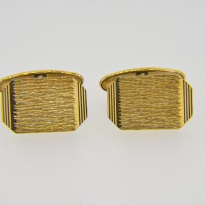 9ct gold cuff-links, 1977.