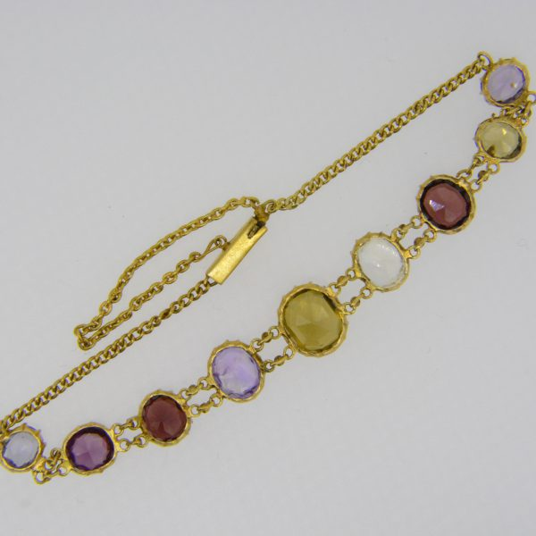 19th century gemstone bracelet