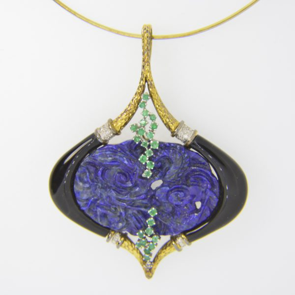 Fred, lapis lazuli pendant