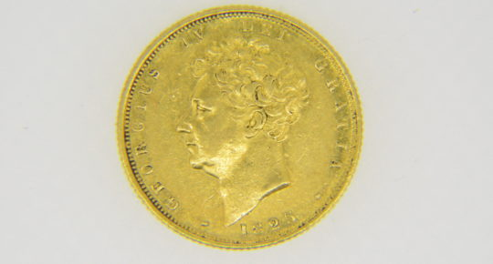 George,IV,sovereign,1825