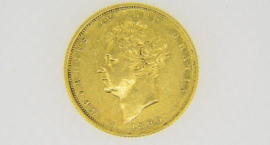 George,IV,sovereign,1825
