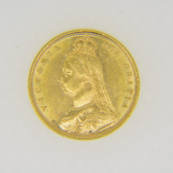 Victorian half-sovereign 1887