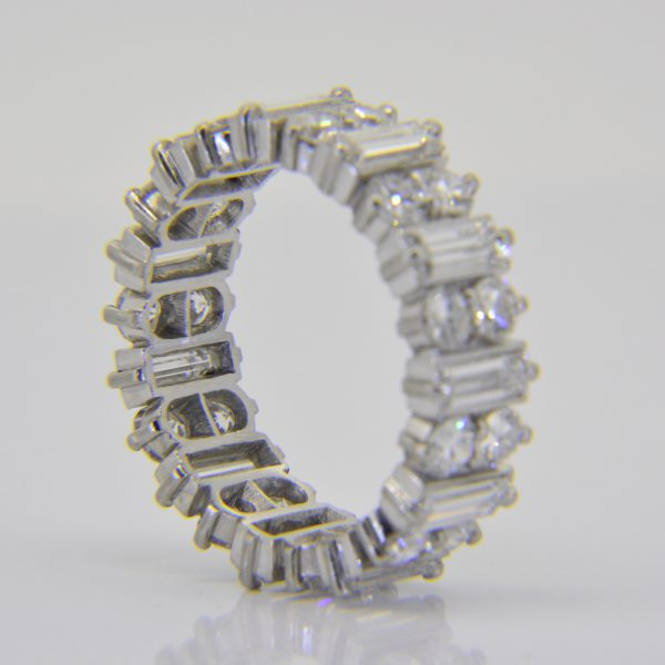 Platinum 3.5ct diamond full eternity ring