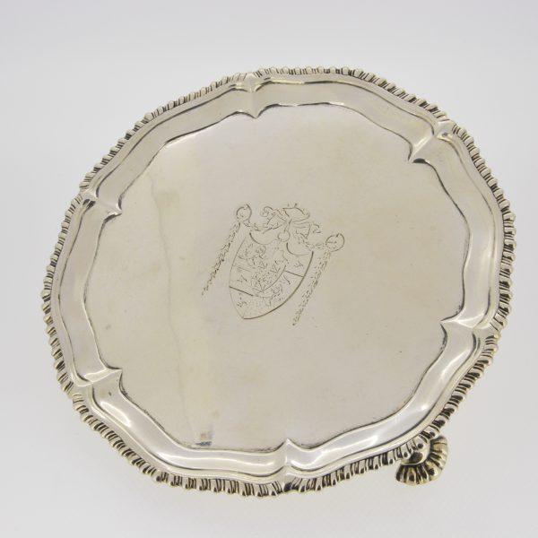 George III silver waiter 1772
