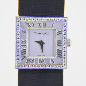 Tiffany diamond-set Atlas wristwatch