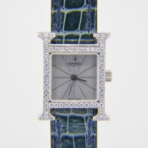 Hermes diamond H watch
