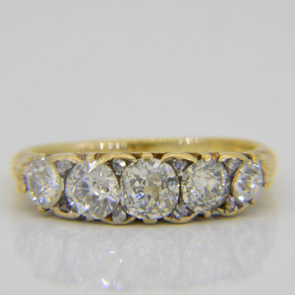 Late 19th Century diamond 5-stone ring