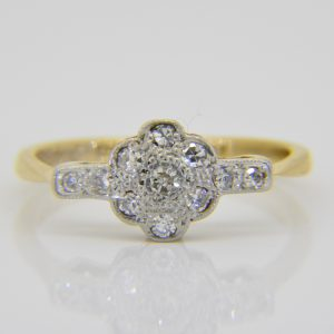 1920s diamond cluster ring