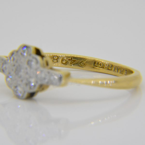 1920s diamond cluster ring