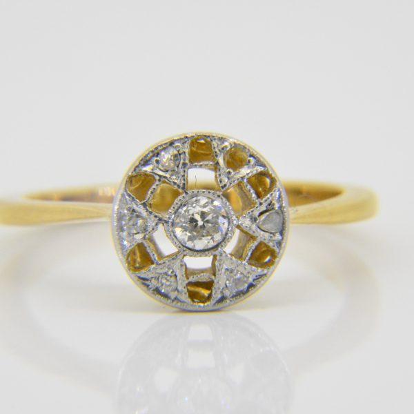 1930s diamond cluster ring