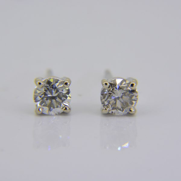 1.15ct diamond ear-studs