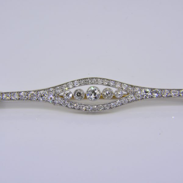 Edwardian diamond brooch