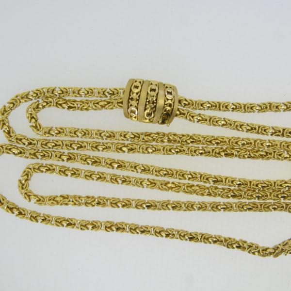 18ct gold byzantine link necklace