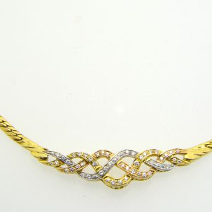 Diamond Entrelac Necklace