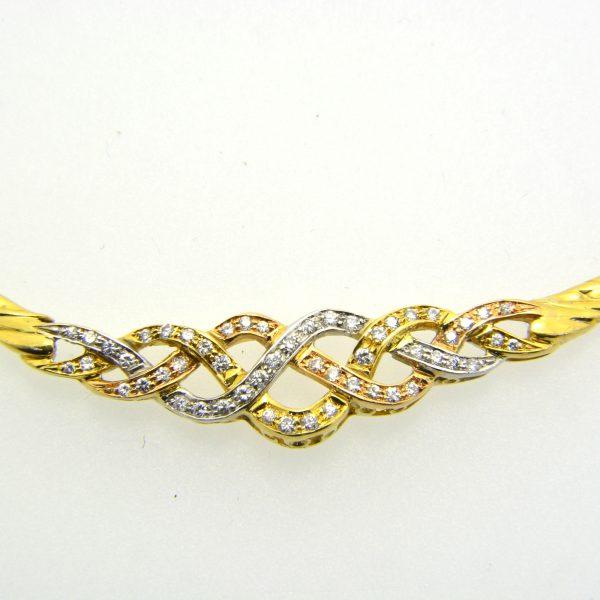 Diamond Entrelac Necklace