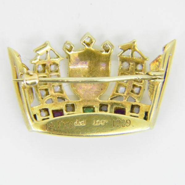 Naval crown brooch